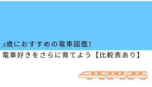 3歳におすすめの電車図鑑!電車好きをさらに育てよう【比較表あり】