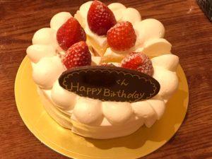 ワイワイグリル お誕生日ケーキ