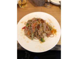 『VINOTECA(ヴィノテカ)』 旬野菜とからすみの全粒粉パスタ